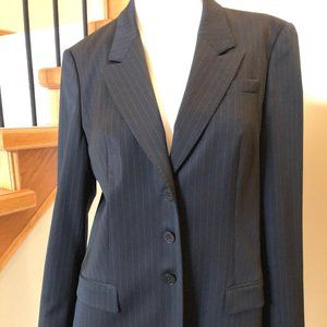 Hugo Boss Pin-Striped lined Jacket Black Size 10